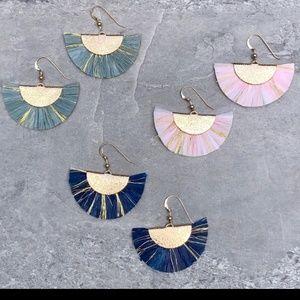 14K Gold Filled Boho Fan Tassel Earrings